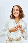 Robe-chemise détails à dentelle 2