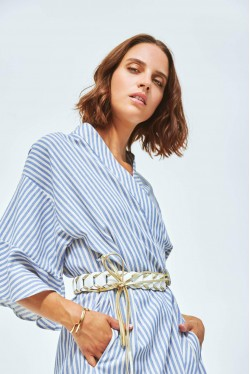 Robe kimono à rayures 4