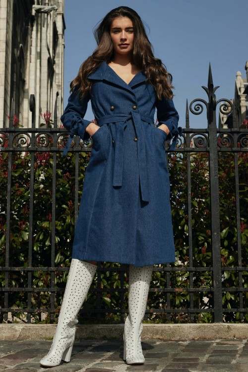 Trench-coat moderne en jean 2