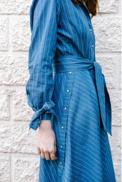 Robe-chemise rayée 3