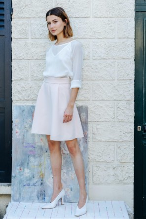 white transparent blouse produced in silk Made in France 1