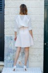 white transparent blouse produced in silk Made in France 2