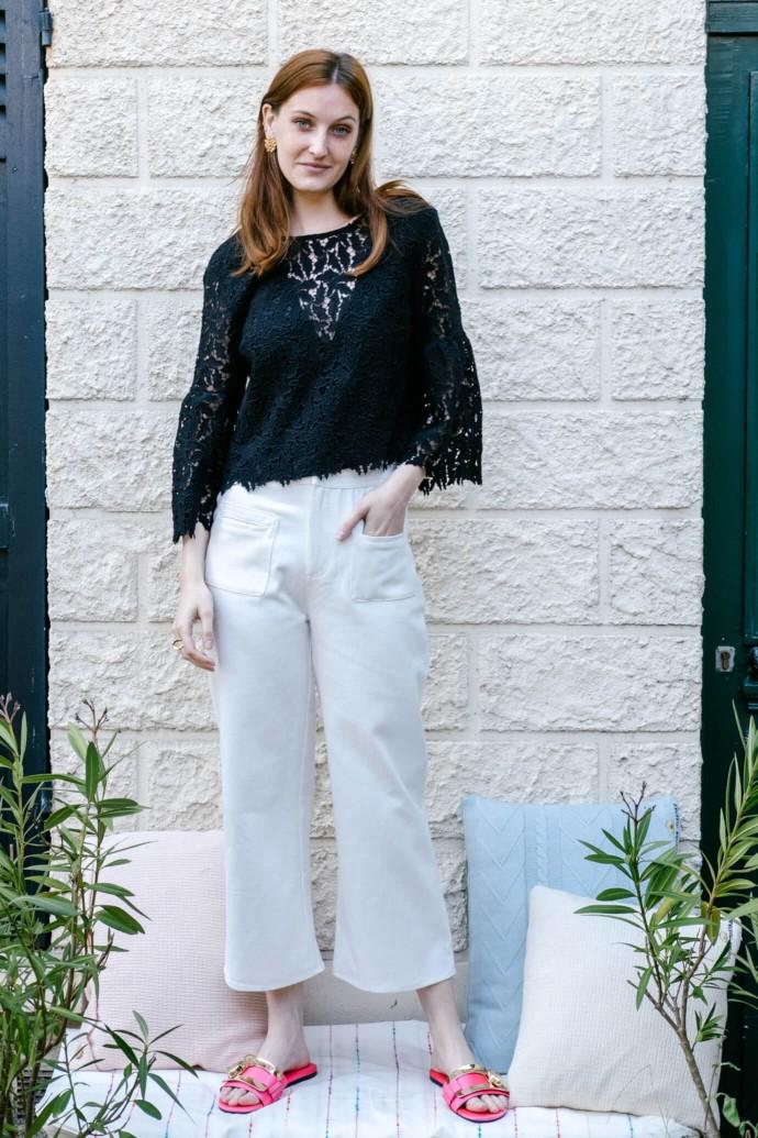 Pantalon Cookie blanc