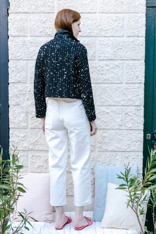 Pantalon blanc 7/8ème coupe évasée 3