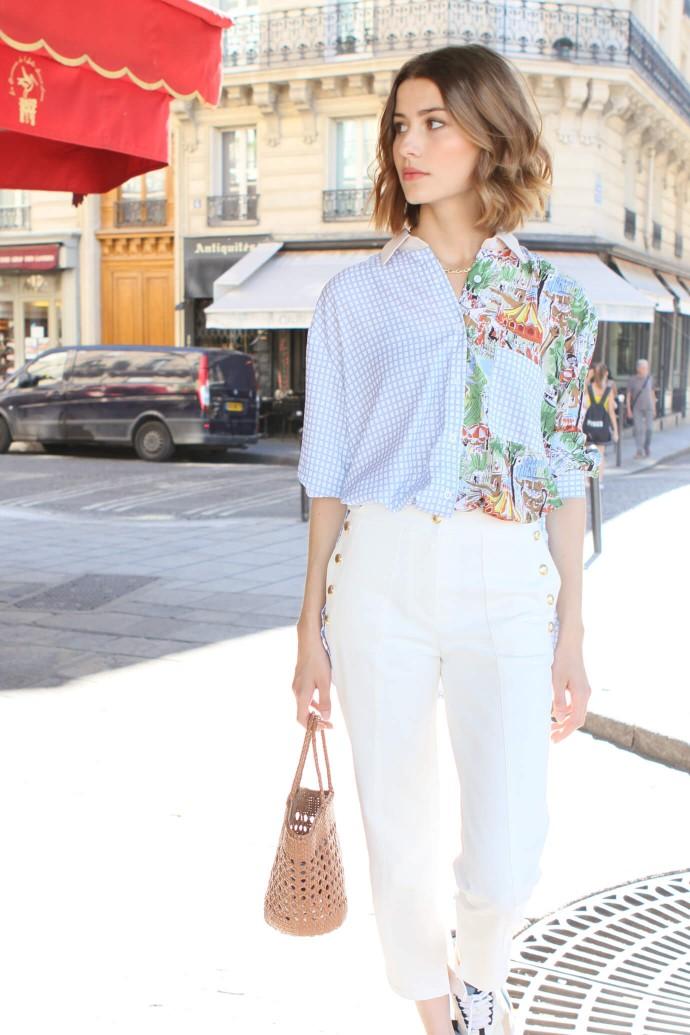 White Hora Jeans