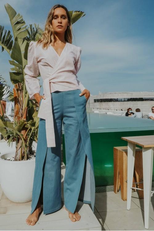 slit jeans