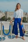 Electric blue pants 2