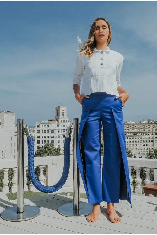 Electric blue pants 1
