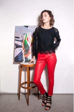Pantalon en cuir 1