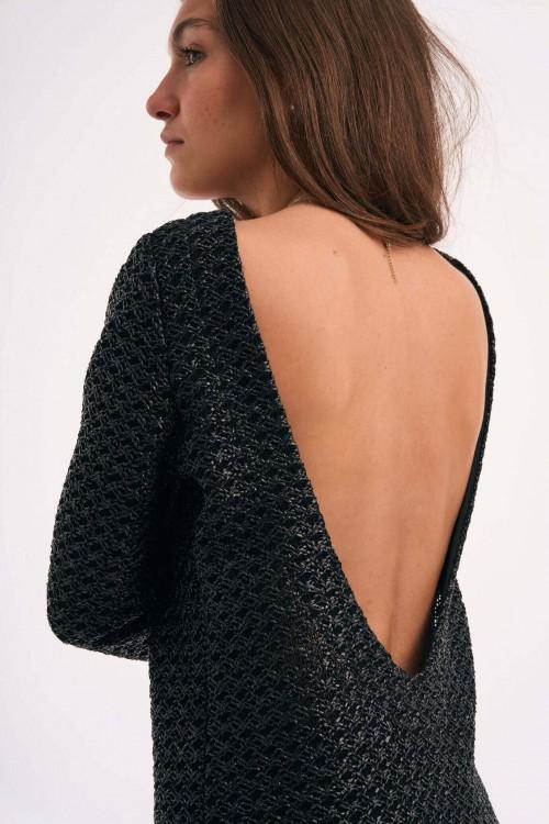 Robe noire dos nu 3