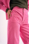 Cord trousers produced in pink made in Paris 1
