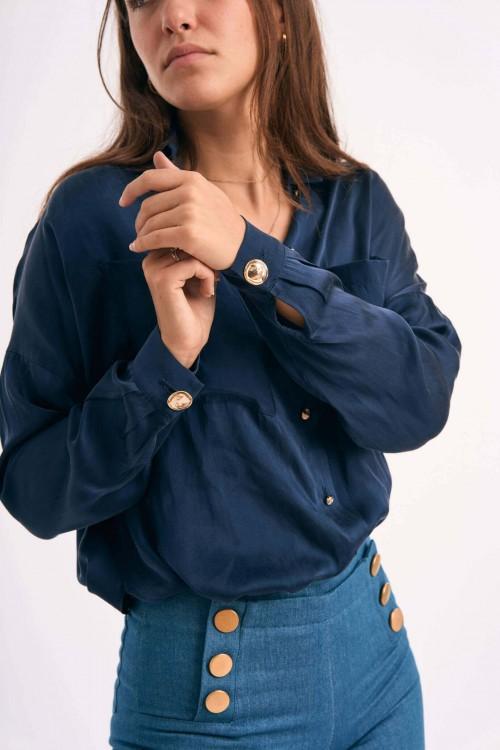 Mina MidnightBlue Shirt