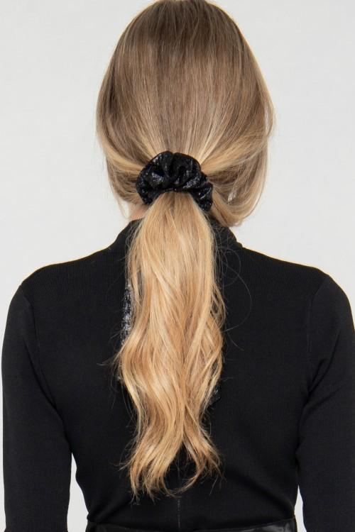 Chouchou imprimé foulard avec nœud pour cheveux signé Koshka Paris