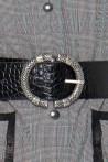 Ceinture large en cuir à effet croco avec une boucle style celtique par la marque de mode parisienne Koshka Paris
