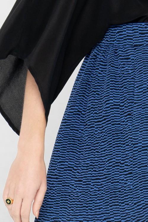 Combi-short sexy à effet Kimono bimatière créé par la marque de mode parisienne Koshka Paris