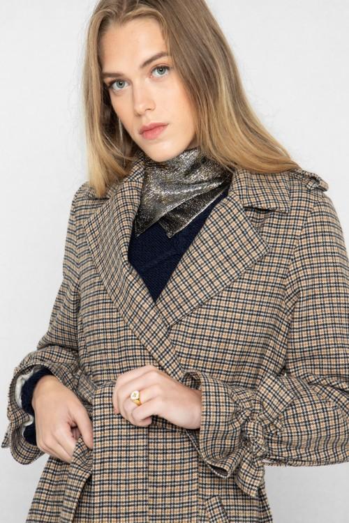 Manteau tendance hiver 2020-2021 Prince de Galles par Koshka Paris 1