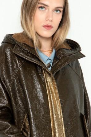 Parka courte en coton imperméable à capuche créée par Koshka Paris 1
