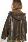 Parka courte en coton imperméable à capuche créée par Koshka Paris 3
