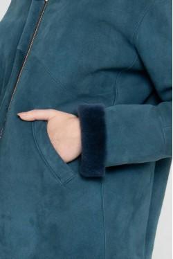 Bomber en peau lainée avec col en fourrure créé par Koshka Paris 4