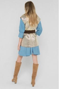 Veste blazer sans manches en laine et lurex créée par Koshka Paris 4