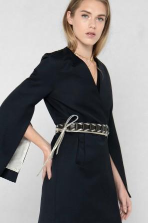 Veste Kimono en laine et soie style smoking créée par Koshka Paris 1