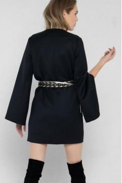 Veste Kimono en laine et soie style smoking créée par Koshka Paris 3