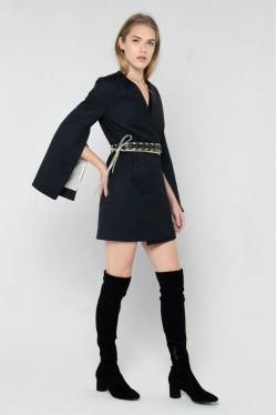 Veste Kimono en laine et soie style smoking créée par Koshka Paris 4