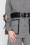 Veste Prince de Galles à manches fendues créée par Koshka Paris 2