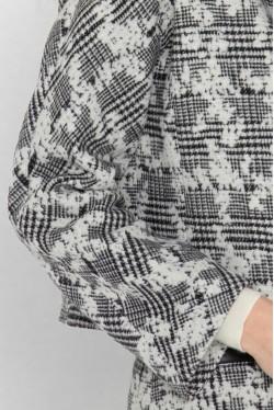 Veste tailleur en laine à carreaux et fleurs créée par Koshka Paris 2