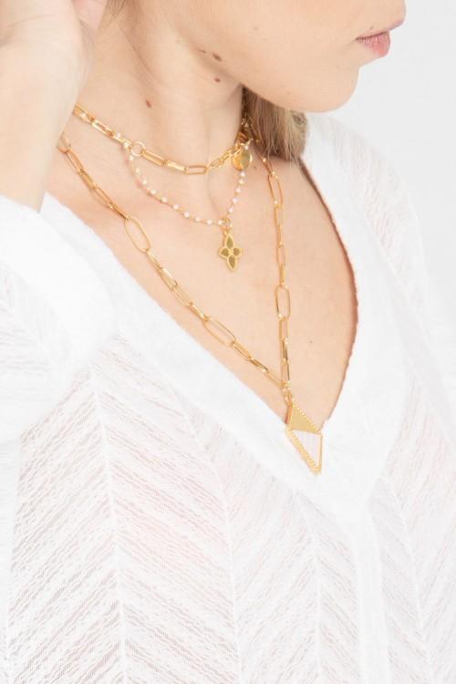 Blouse col V en tissu ajouré et manches kimono créée par Koshka Paris 6