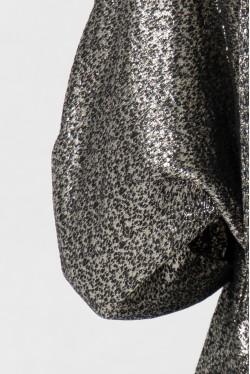 Blouse chemisier chic col cravate en soie lurex créée par Koshka Paris 5