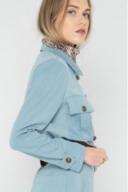 Chemise saharienne à poches plaquées coupe décontractée Koshka Paris 2