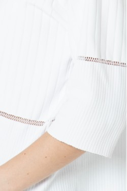 White polo with gold buttons Made in France 4