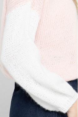 Pull tricolore en laine d'alpaga 4