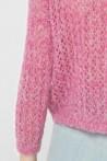 Pull ajouré tricoté à la main 3