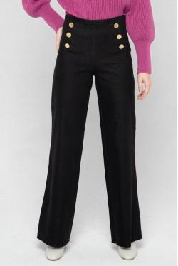 pantalon à pont de couleur noire 4
