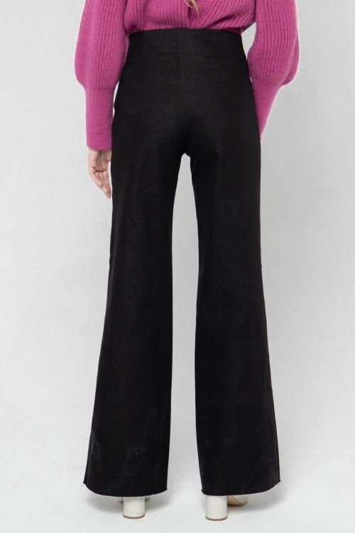 pantalon à pont de couleur noire 6