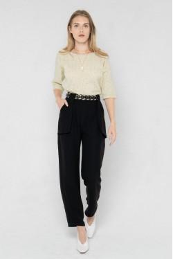 Pantalon noir fluide 4