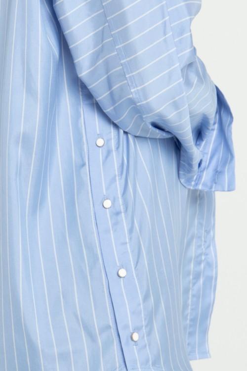 Chemise bicolore en soie à rayures créée par Koshka Paris 3
